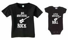 BIG BROTHERS ROCK -LITTLE BROTHERS ROLL - SET OF 2 SHIRT AND BODYSUIT  SIZE BOYS