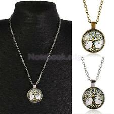 Retro Mens Womens Tree of Life Charm Pendant Chain Necklace Family Jewelry
