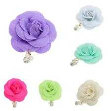 Romantic Camellia Flower Hair Clip Bridal Hair Brooch Wedding Party Accessories