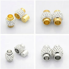 2pcs Plated Brass Pave Polymer Clay Grade A Rhinestone Magnetic Clasps Crystal