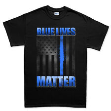 Blue Lives Matter Police Law Enforcement T shirt Tee Top T-shirt