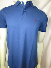 TOMMY HILFIGER mens blue rugby polo shirt with flag logo new nwt