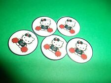 Pre Cut One Inch HELLO KITTY TEXANS Bottle Cap Images! FREE SHIP