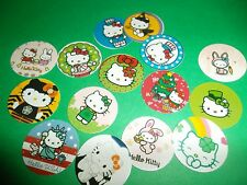 Pre Cut One Inch HELLO KITTY HOLIDAYS Bottle Cap Images! FREE SHIP