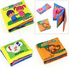 Kids Infant Cloth Bed Cognize Book Intelligence development Educational Toy Gift