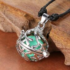 Fashion Jewelry Pregnancy Angel Leaf Hollow out Locket Pendant Ball Necklace New