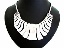 Chunky Unusual Tribal Design Silver Coller Necklace      LaGeNLooK JeWeLLeRy