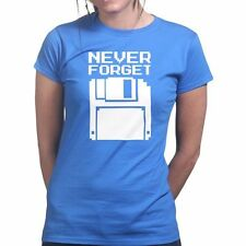 Never Forget Floppy Disk Retro Console New PC Geek Nerd Big Bang Womens T shirt