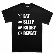 Eat Sleep Rugby Repeat Union League World Cup New T shirt Tee T-shirt Top