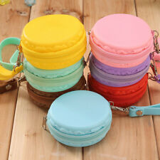 Women Purse Macaron Silicone Waterproof Wallet Pouch Coin Bag lovely gift TB