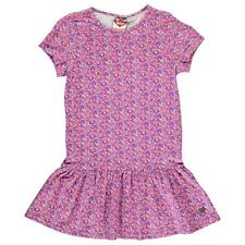 Lee Cooper Kids All Over Print Tunic Dress Junior Girls Short Sleeve Crew Neck