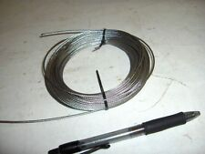 "1/16"" 1/8"" Stainless Steel 7 x 7 Aircraft Cable Wire Rope 25' 50' 100'"