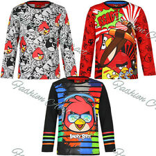 Boys Angry Birds Long Sleeve T Shirt Top  4 6 8 10 Years
