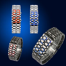 Wrist Watch Samurai Lava Iron Metal LED Faceless Unique Bracelet Wristwatch