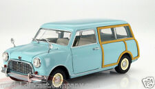 AUSTIN MINI COUNTRYMAN 1:18 MODEL CAR BNIB GREAT DETAIL RARE BLUE/WOOD BY KYOSHO