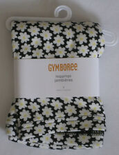 Gymboree Bee Chic Daisy Leggings 5 New Black and Yellow flowers Girls Pants Twin