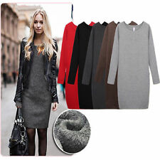 Women Girl Autumn/Winter Mirco Round Velvet Collar Woolen Thickening Dress Skirt