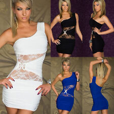 Women Sexy Lace Sleeveless Bodycon Evening Party Cocktail Clubwear Mini Dress