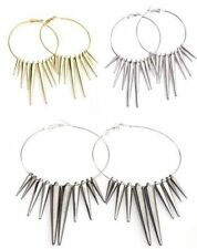 3pairs Acrylic Spike Charms Basketball Wives Earrings