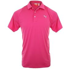 Puma Moisture Wicking Duo Swing Golf Polo Shirt Cabaret Bright Pink Small Men's