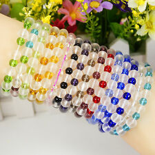 Women Ladies Stylish Loose Charm Assorted Crystal Glass Bead Fit Bracelet Bangle