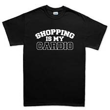 Shopping Is My Cardio Gym Fitness Funny T shirt Tee Top T-shirt