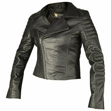 Xelement Vixen Womens Black Leather Jacket - Large