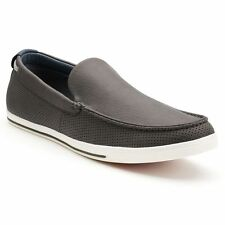 New Mens Sonoma life + style Quentin Grey Perforated Casual Slip-On Loafers $70