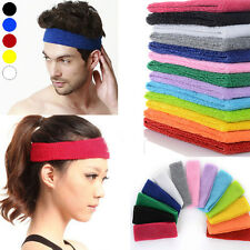 Cotton Sport Yoga Gym Women Men Sweat Sweatband Headband Stretch Head Band Hair