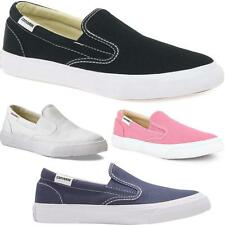 New Womens Ladies Girls Canvas Slip On All Star Converse Comfort Trainers Shoes