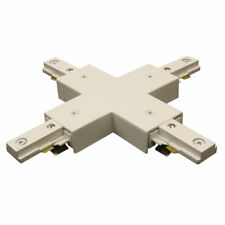 """WAC Lighting Single Circuit Track Lighting System """"X"""" Connector for Juno Series"""