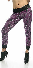 Lip Service Rare Nightmare Knit purple silver black spider leggings S or M