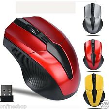 2.4GHz Mice Optical Mouse 2000DPI USB Receiver PC Computer Wireless for Laptop