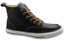Converse Chuck Taylor Classic Hi Tops Mens Leather Boots Black 125647C D19
