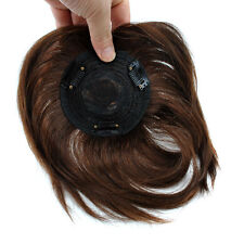 "Base  4''x4""  Women Mens Real Human Hair Topper Hairpiece Hair Toupee"