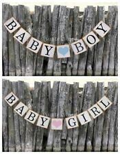 BABY BOY/GIRL Vintage Bunting Banner for Kids Baby Shower Party Garland Decor