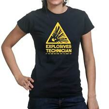 Explosives Technician Funny Sarcastic Joke Gift Ladies T shirt Tee Top T-shirt