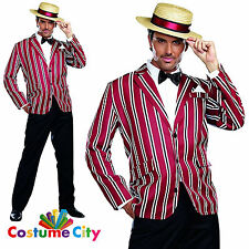 Adult Mens Good Time Charlie 1920s 20s Fancy Dress Gatsby Party Costume