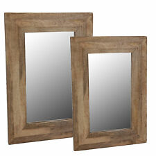 Wall Mirror Wood Frame Mirror Hanging Mirror Mango Natural Frame Bathroom Solid