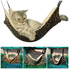 Cat Hammock Leopard Fur Bed Animal Hanging Cat Cage Pet Comforter Ferret NEW