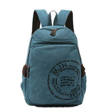 Unisex Canvas Bucket Backpack Travel Hiking Camping Climbing Sport Shoulder Bag