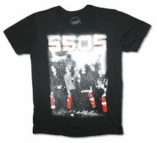5 Seconds of Summer Fire Extinguishers Adult Black T Shirt New 5SOS