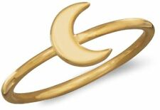 14 Karat Gold Plated Moon Ring 925 Sterling Silver