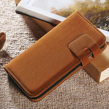 Soft Leather Flip Card Wallet Stand Case Cover Skin For Samsung Galaxy S4 I9500