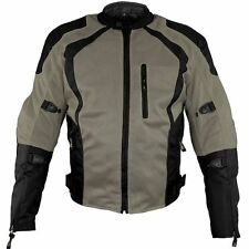 Xelement 'Cyclone' Men's Black/Grey Mesh Tri-Tex Armored Motorcycle Jacket