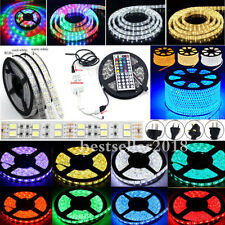 1M-20M SMD 5050 300-1200 LED Lamp Flexible Strip Light Tape Rope & Remote & Plug