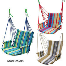 Garden Outdoor Cotton Striped Hanging Hammock Chair Hanging Swing Seat Porch New