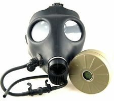 Israeli Civilian Adult Gas Mask w/ Nato Filter & Water Canteen Filter Straw Kit