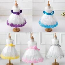 Formal Wedding Pageant Bridesmaid Party Dress Child Girl Flower Tulle Tutu Dress