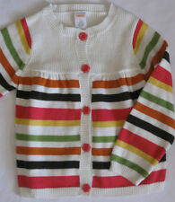 Gymboree Fall for Autumn Sweater 5T New Ivory Striped Cardigan Girls